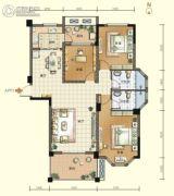 航宇・香格里拉3室2厅2卫127平方米户型图