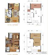力帆红星国际广场1室2厅2卫95平方米户型图