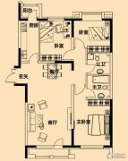 铂金首府3室2厅2卫120平方米户型图