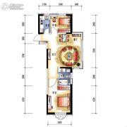 中央学府2室2厅1卫79平方米户型图