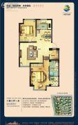 荣盛・锦绣外滩2室2厅1卫83平方米户型图