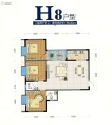 翰林尚品3室2厅2卫116平方米户型图