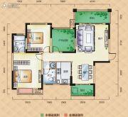 梅溪峰汇3室2厅2卫118平方米户型图