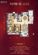 晋中碧桂园3室2厅2卫123平方米户型图
