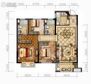 中梁・悦荣府3室2厅2卫100平方米户型图