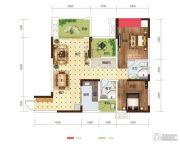 世茂茂悦府2室2厅2卫80平方米户型图