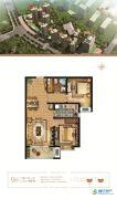 万和城2室2厅1卫92平方米户型图