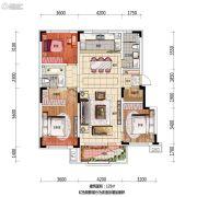 万科翡翠公园3室2厅2卫125平方米户型图