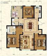 保利叶语3室2厅2卫117平方米户型图