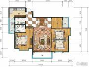 万裕・润园4室2厅2卫130平方米户型图