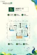 奥园香山美景3室2厅1卫91平方米户型图