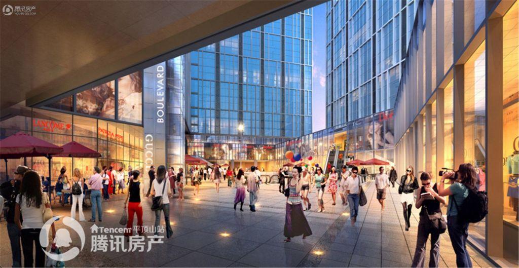 (B)4—商业外街-天桥+扶梯