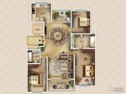 九英里颢苑3室2厅2卫187平方米户型图