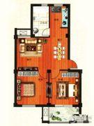 金港嘉园2室2厅1卫79平方米户型图