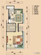 浪琴湾2室0厅1卫94平方米户型图