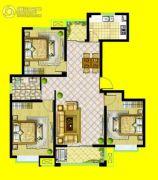安泰・未来城3室2厅1卫126平方米户型图