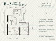 金色港湾双湖泊岸1室2厅1卫70平方米户型图