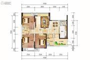 西岸翠景3室2厅2卫99平方米户型图