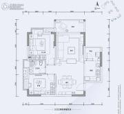 翔隆七色城邦2室2厅1卫78平方米户型图