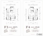 云沙诗意二期2室2厅1卫82--91平方米户型图