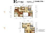 海航豪庭北苑6室3厅5卫348平方米户型图