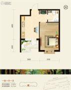 恒祥空间1室1厅1卫0平方米户型图