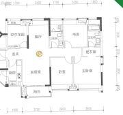 保利大都会4室2厅2卫120平方米户型图