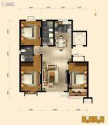 弘仁里3室2厅2卫0平方米户型图