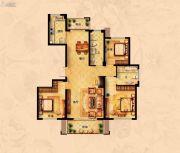 丁香花园3室2厅2卫142平方米户型图