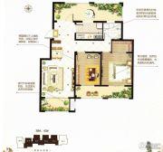 阳光首院2室2厅1卫83平方米户型图