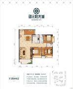 御元阳光城4室2厅2卫105平方米户型图