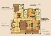 海天紫郡4室2厅2卫140平方米户型图