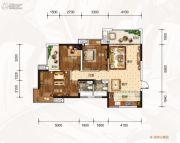 龙湾公馆3室2厅2卫105平方米户型图