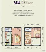 天悦国际2室1厅2卫0平方米户型图