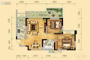 祥和御馨园二期2室2厅1卫83平方米户型图