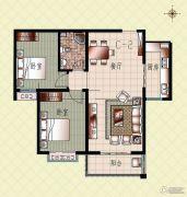 上起澜湾2室2厅1卫100平方米户型图