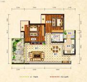 中央绿洲2室2厅1卫86平方米户型图
