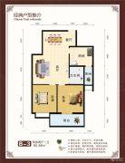 世纪华庭2室2厅1卫92平方米户型图