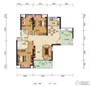 中核・半岛城邦3室2厅2卫116--117平方米户型图
