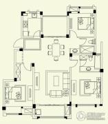 融侨观邸3室2厅2卫132平方米户型图