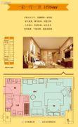 星雅汇1室1厅1卫54平方米户型图