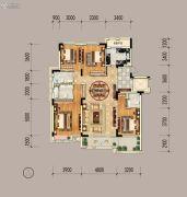 绿地山鼎庄园二期4室2厅3卫160平方米户型图