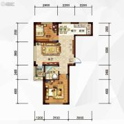 玉祥・明居2室2厅1卫79平方米户型图