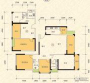 恒怡湾2室2厅1卫62平方米户型图