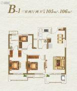 阳光城檀悦3室2厅2卫105--106平方米户型图