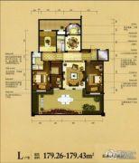 瑞城御园5室4厅4卫179平方米户型图