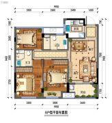 佳源・优优锦城3室2厅2卫0平方米户型图