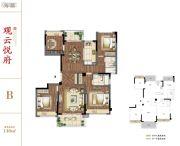 建发独墅湾4室2厅2卫140平方米户型图