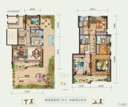 白鹿洲华府4室2厅4卫170平方米户型图