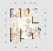 中海国际社区4室2厅2卫140平方米户型图